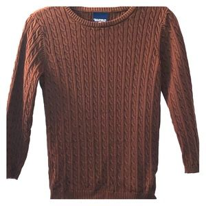Brown Casual Ralph Lauren Cable Knit Sweater